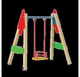 B43 | Гойдалка дерев'яна одинарна
